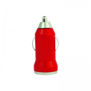 MCH-2888 Mini Bullet USB Car Charger Adaptor - Red