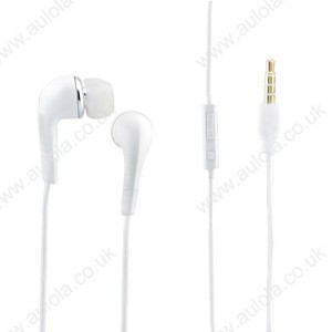 White In-Ear Headphone with Mic&Volume Control