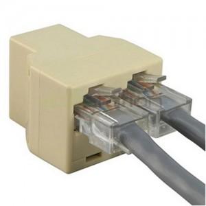 RJ45 8P8C 1 to 2 LAN Ethernet Connector Splitter