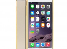 MKC-13638 Ultra-thin Aluminum Metal Bumper Case for iPhone 6 - Golden