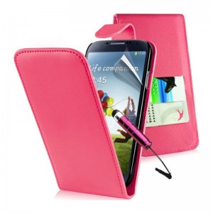 PU LEATHER FLIP CASE COVER For I9500