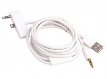 Wholesale 1.2m Car Audio AUX Cable Adapter for iPhone 6