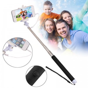 Wholesale Handheld Wired Cable Selfie Stick Monopod Extendable Pole