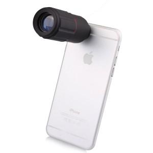 Universal 8x Zoom Telescope Mobile Phone Lens - Black