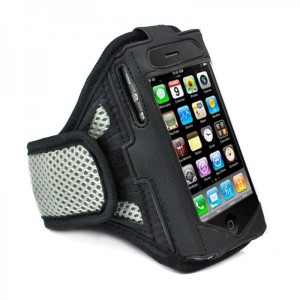 iPhone 4G / 4S Armband Exercise Band Running Cover Sport Gym Workout -Gray