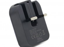 Wholesale TH31 Foldable Dual USB Port UK Charger Adaptor- Black