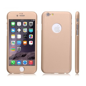 Wholesale Full Cover Protection Thin Case Cover + Tempered Glass for iPhone 6 4.7 - Gold