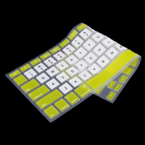 Wholesale Ultra Thin TPU Silicone Keyboard Cover Protective Skin for MacBook - Green