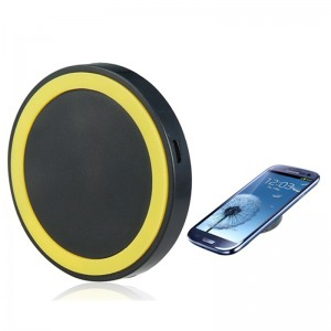 Wholesale Q5 Universal Wireless Charging Pad Charger for iPhone Samsung LG - Yellow