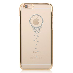 Wholesale Angel Tears Thin Slim PC Case Skin with Bling Crystal for iPhone 6 4.7 - Gold