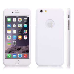 Wholesale Full Cover Protection Thin Case Cover + Tempered Glass for iPhone 6 plus