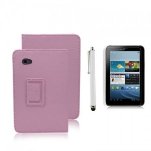 New Leather Smart Case Cover for Samsung Galaxy Tab 2 P3100 P3110 7 Inch Tablet -Pink