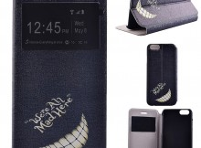 Wholesale Smile White Tooth PU Leather Stand Flip Case with Window for iPhone 6s