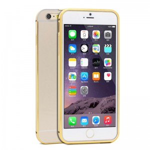 Wholesale Ultra-thin Aluminum Metal Bumper Case with Removable Back Cover for iPhone 6 Plus
