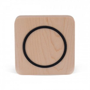Wholesale Wood Square Wireless Charing Charger Transmitter Dock Pad for iPhone Samsung HTC