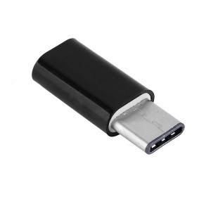 Wholesale Type-C Male 3.1 to Micro USB Female Converter USB-C Adapter - Black